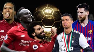 Van Dijk, Mane And Salah Are More Likely To Win The Ballon d'Or Than Ronaldo