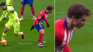 Lionel Messi Completely Finishes Antoine Griezmann And His Reaction Is Priceless