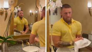 A Video Of Conor McGregor Simply Washing His Hands In A Sink Has Racked Up Almost 4 Million Views