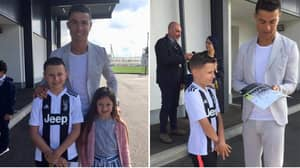 Cristiano Ronaldo Flies Out Seriously Ill 10-Year Old And His Family To Meet Him