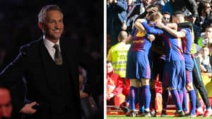 Barcelona Fans Were Loving Gary Lineker's Post Clasico Tweet
