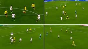 Jadon Sancho Compilation Highlights His 'Criminally Underrated' Performance Against Sevilla
