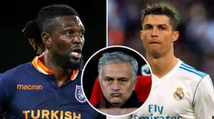 Emmanuel Adebayor Recalled The Moment Jose Mourinho 'Killed' Cristiano Ronaldo At Real Madrid