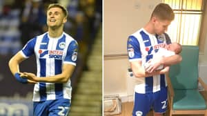 Wigan's Ryan Colclough Scores Twice, Gets Subbed Off, Runs Down Tunnel, Makes Birth Of Son