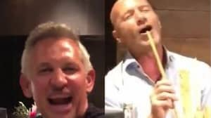 Alan Shearer Filmed Singing Into His Breadsticks On Boozy Night Out