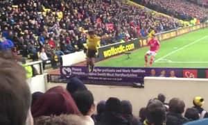WATCH: Watford's Nathan Ake Somehow Avoids Injury After Falling Down Pitchside Pit