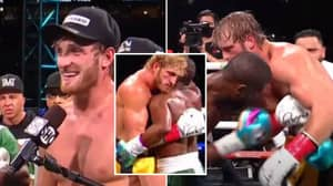 Logan Paul Reveals What He Whispered In Floyd Mayweather's Ear During Mid-Fight Interaction