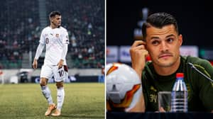 Granit Xhaka Has Dig At Arsenal Fans By Posting About 'Happiness' While Wearing Swiss Kit