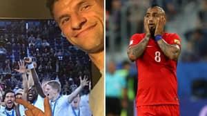 Arturo Vidal Reacts Angrily To Bayern Teammate Thomas Muller's Instagram Post
