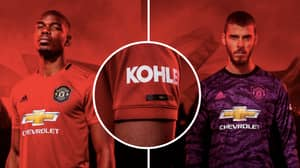 Manchester United's Official Home Kit For 2019/20 Season Released
