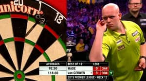 The Moment Michael Van Gerwen Threw Seventeen Perfect Darts