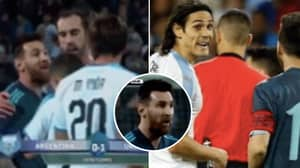 Edinson Cavani Called Out Lionel Messi For A Fight, Messi Was Happy To Go