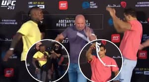Israel Adesanya And Paulo Costa Nearly Come To Blows At UFC 253 Weigh-In