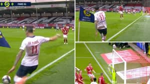Angel Di Maria's Corner Kick Takes WILD Deflection From Brest Player As PSG Take 1-0 Lead