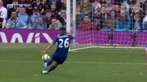 WATCH: Riyad Mahrez Has Penalty Disallowed For Taking Two Touches