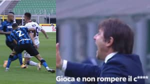 """""""Stop Busting My Balls!"""" Classic Conte Outburst At Arturo Vidal In Inter Win"""