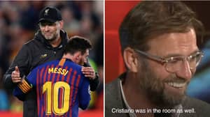 Jurgen Klopp Has One Selfie On His Smartphone And That's With Lionel Messi