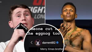Darren Till Slid Into Israel Adesanya's DMs On Christmas With A Hilarious Message