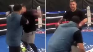 Andy Ruiz Jr Comments On Accidentally Punching Trainer Flush On Chin With Huge Left Hook