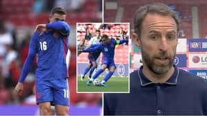 Gareth Southgate Gives Worrying Reaction To Jordan Henderson Taking Penalty Off Dominic Calvert-Lewin