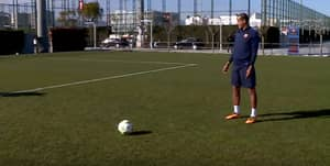 WATCH: Rivaldo Teaches Barcelona Youngsters How To Take Free-Kicks