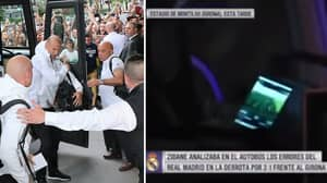 What Zinedine Zidane Was Doing On His Phone After Girona Defeat Is Brilliant