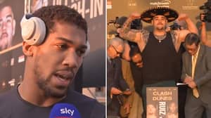 Anthony Joshua Reacts To Andy Ruiz Jr Weighing In More Than Three Stone Heavier Than Him