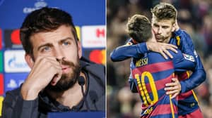 Gerard Pique Posts Incredibly Emotional Farewell Statement To Lionel Messi