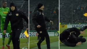 Watch: The Incredible Moment A Manager Produces The Worst Dive Of The Year