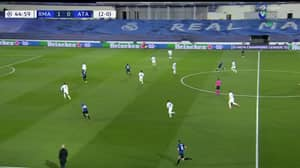 The Referee Blew The Whistle For Half-Time At 44:59 As Atalanta Were Through On Goal Against Real Madrid