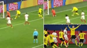 Sevilla Fuming After Erling Haaland Taunts Goalkeeper Having Scored Retaken Penalty