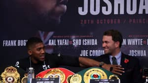 Watch: Anthony Joshua Encourages Fans To Boo Eddie Hearn