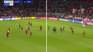 Thiago Pulled Off Cheeky 'No-Look' Free-Kick Assist For Thomas Muller To Score Bayern Munich's Third Goal