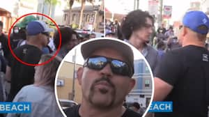 UFC Legend Chuck Liddell Spotted Breaking Up Fights At Huntington Beach Protests