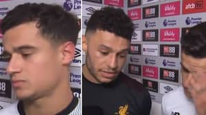 Alex Oxlade-Chamberlain Interrupts Reporter To Help A Struggling Philippe Coutinho