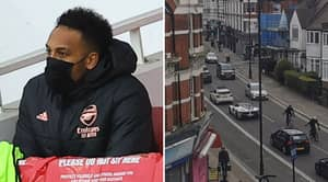 Pierre-Emerick Aubameyang Spotted 'Stuck In Traffic' After He Was Dropped To Bench For Breaking Pre-Match Protocol