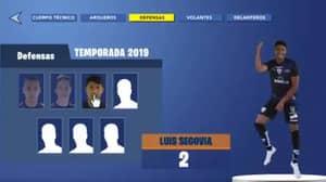 Ecuadorian Football Team Announce This Season's Squad In Fortnite Style