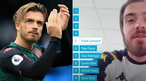 Jack Grealish Names His 10 Best Midfielders In Premier League History