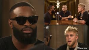Jake Paul Left 'Speechless And Stuttering' By Tyron Woodley During Face-To-Face Chat