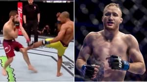 Incredible Footage Shows How Khabib Will Deal With Justin Gaethje's Brutal Leg Kicks