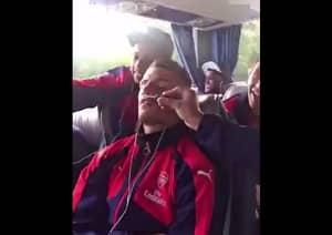 WATCH: A Sleeping Granit Xhaka Is Pranked By Arsenal Teammates