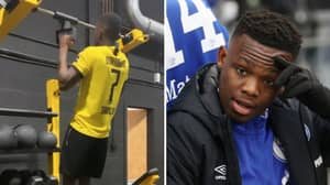 Rabbi Matondo Apologises To Schalke After Being Pictured Wearing Borussia Dortmund Shirt In Training