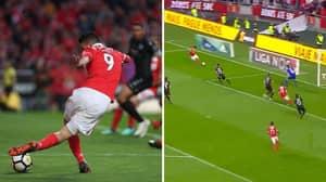 Benfica's Raul Jimenez Plays Perfect Rabona Cross To Set Up Teammate