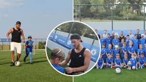 Eden Hazard Plays Football With Chelsea's Youth Team While On Holiday In Greece
