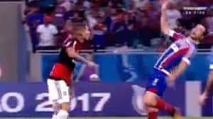 WATCH: The Worst Dive In Football History Took Place Last Night