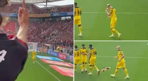 Erling Haaland Showed He's Already Mastered The Art Of Sh*thousery By Pretending To Drink Beer A Fan Threw At Him
