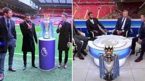 The Premier League Trophy Is At Anfield For Liverpool Vs. Chelsea