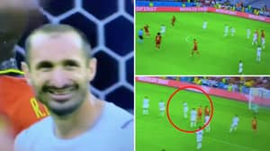 Giorgio Chiellini's Hilarious Reaction To Kevin De Bruyne Thunderbolt Hitting Him Square In The Face