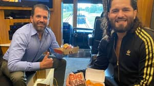 Jorge Masvidal Declares His Support For Donald Trump While Sharing A McDonald's With The President's Son