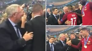 Remembering When Sir Alex Ferguson Waited For Cristiano Ronaldo And Nani After Euro 2016 Win